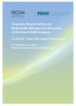 PRME MGSM Study: Student Attitudes Toward Responsible Management Education (2012)